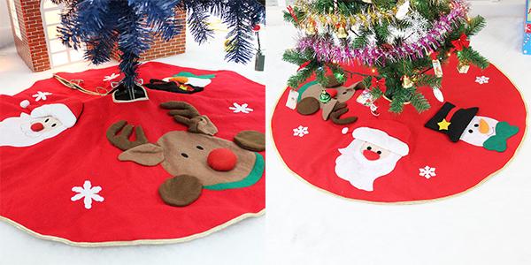 Christmas Holiday Party.Amerzam Christmas Tree Skirt Mat Christmas Holiday Party Decoration Red