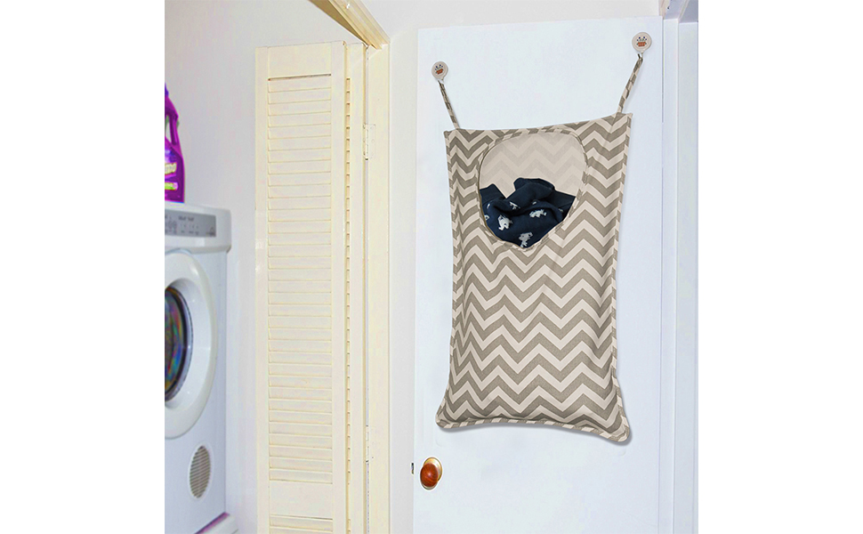 Amerzam Door Hanging Laundry Hamper/Laundry Basket/Laundry Bag For Bedroom,  Nursery, Dorm, Or Closet
