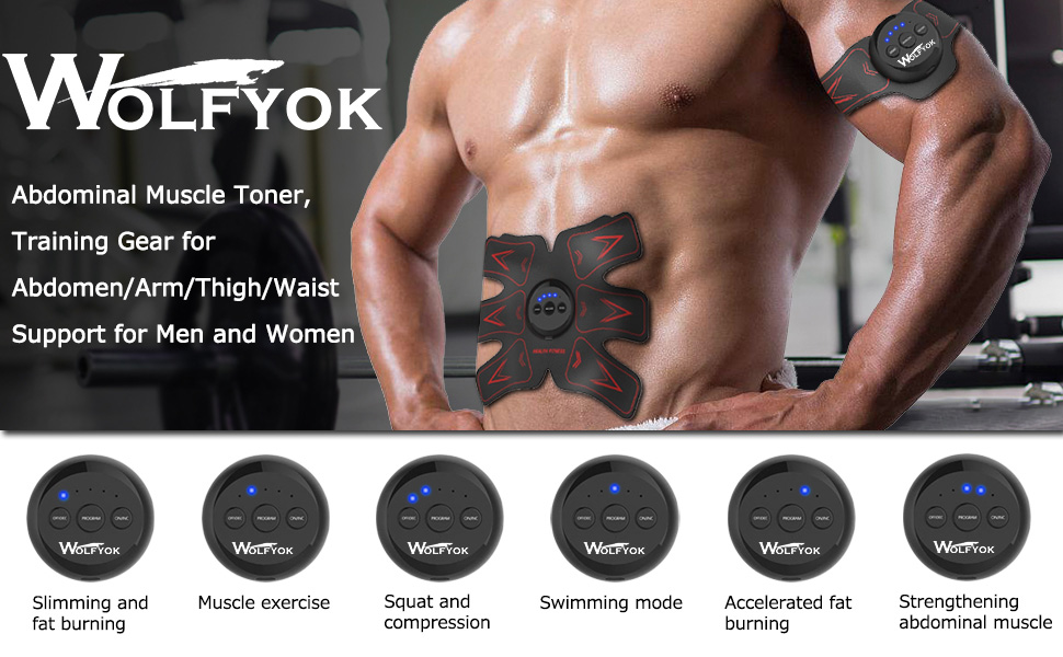 Amazon Wolfyok Abdominal Muscle Toner Usb Rechargeable Abs