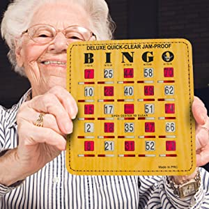 bingo cards with sliding shutters