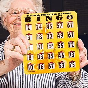 Bingo cards with sliding windows