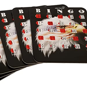 bingo cards with shutters
