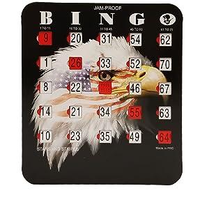 bingo cards with sliders