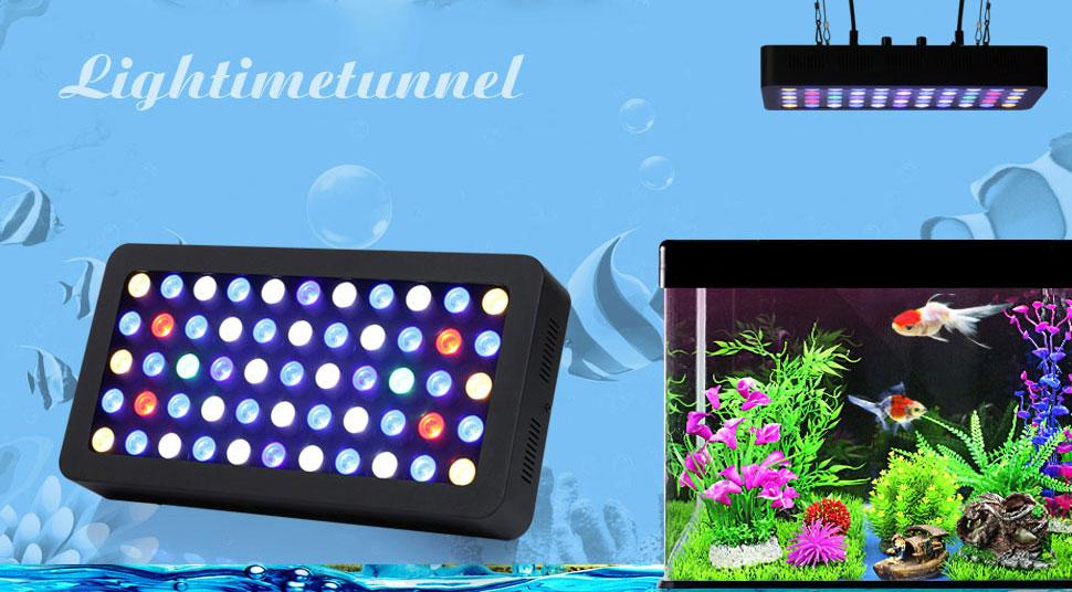 amazon com led aquarium light lightimetunnel 165 watt dimmable