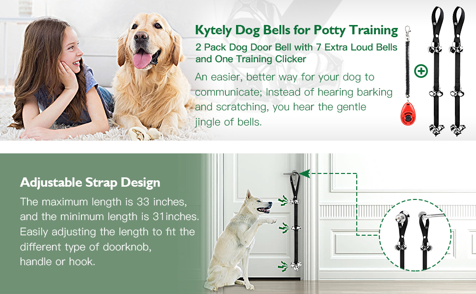 Amazon Kytely Dog Doorbells For Potty Training 2 Pack Potty