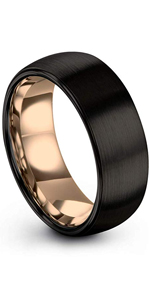 dome plated rose gold wedding band B0172KWBMU p. manoukian