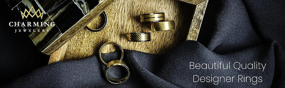 charming jewelers beatuiful quality designer rings for men and women, unisex, boyfriend girlfriend