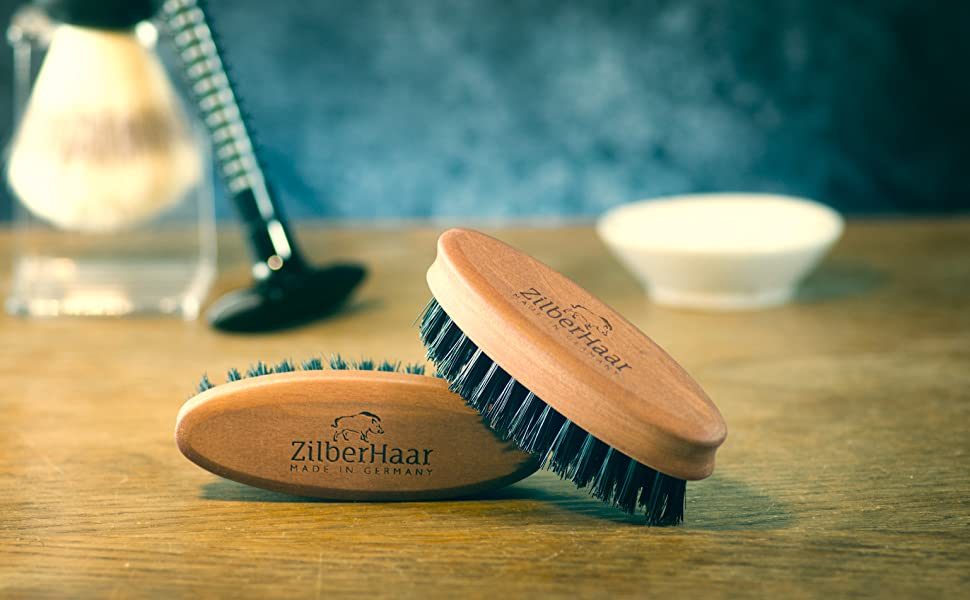 stiff beard brush pocket hero