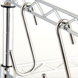 5Pca Iron Balck S-shaped Hook for Flower Pot Hanging Holder Store Kitchen Hanger