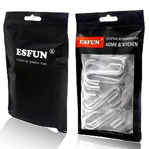 esfun s hooks 30 pack
