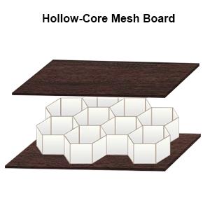Stronger Hollow-Core Bookcase Bookshelf