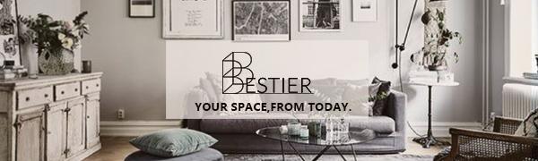 Bestier 5 Shelf Bookcase S-Shaped