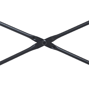 X-Frame Metal and Wood Desk