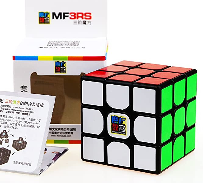 Moyu MF3RS3M Magnetic 3x3x3 Black Speed Cube Puzzle Toys Ship from MA