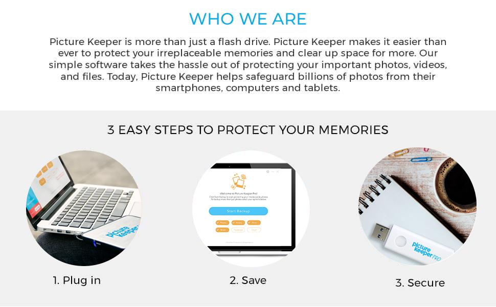 Picture Keeper, USB, USB Flash Drive, Backup stick, backup photos
