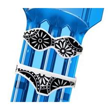 bikini custom krystal one crystal plastic dart case