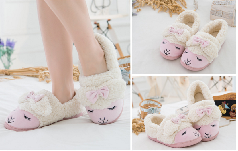 MiYang Winter Womens Sheep Warm Plush Soft Sole Indoor Slipper  B01FM0KMFK