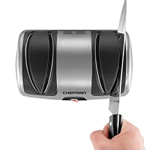 Amazon.com: chefman eléctrico afilador de cuchillos, 2 Stage ...