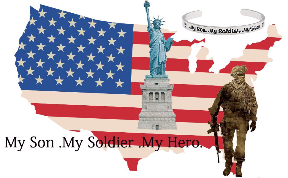 f57fcfc0f02 My Son My Soldier My Hero Cuff Bracelet Army Mom Navy Mom Air Force Mom  Military Jewelry