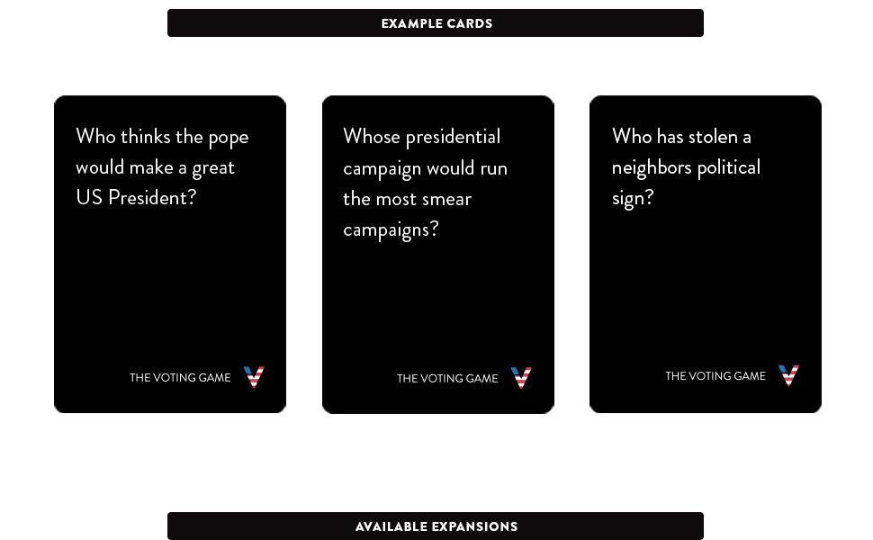 Amazon.com: La Votación Juego Político – Expansión: Toys & Games