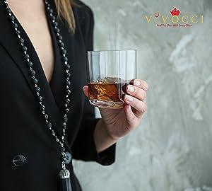 Vivocci Unbreakable Tritan Plastic Rocks 12.5 oz Whiskey /& Double Old Fashion...