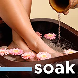 tea tree oil soak, feet soak