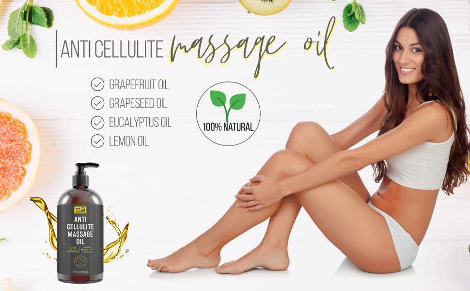 Amazon M3 Naturals Anti Cellulite Massage Oil Infused With