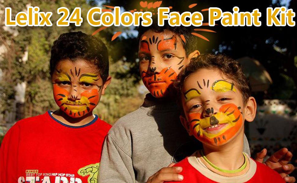 Lelix 24 Colors Face Paint Kit