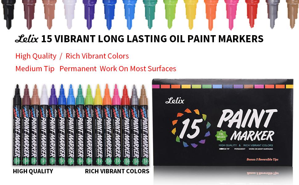 Lelix Oil Paint Pens 15 Pack