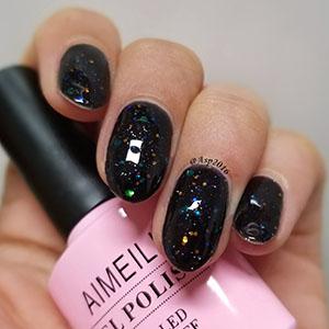 Amazoncom Aimeili Soak Off Uv Led Gel Nail Polish Black Diamond