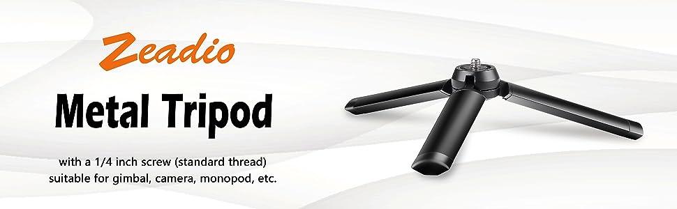 zeadio metal gimbal tripod