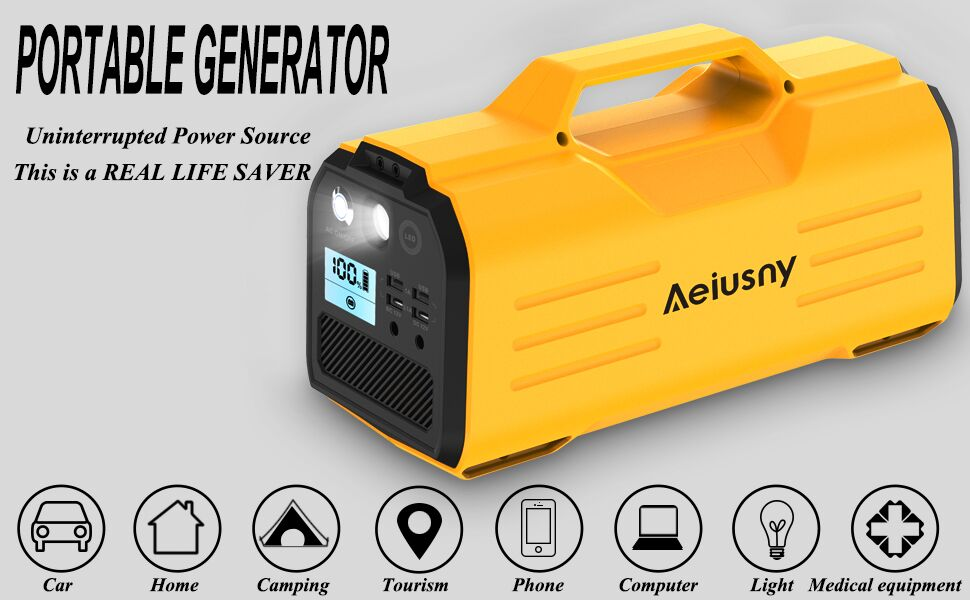 Aeiusny Portable Power Station, Power Outdoors