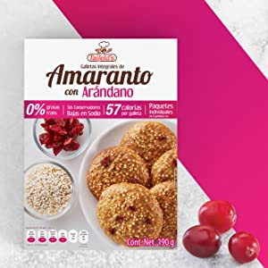 You should try our Amaranth Cookies with Cranberries!
