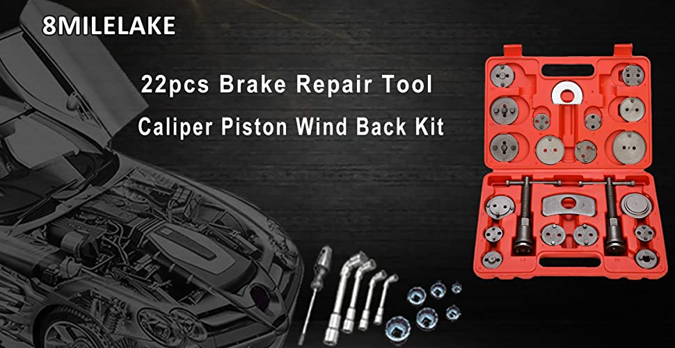 Amazon 8milelake Brake Caliper Wind Back Tool 22pc Professional