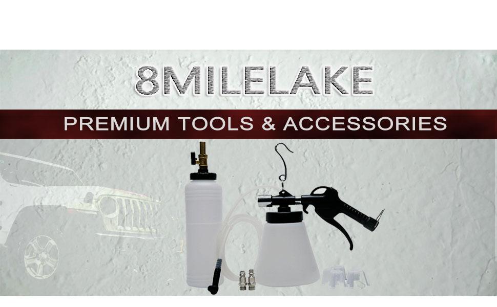 UTMALL Pneumatic Brake Fluid Bleeder Kit Car Air Extractor Clutch Oil Bleeding Tool for VW Audi BMW
