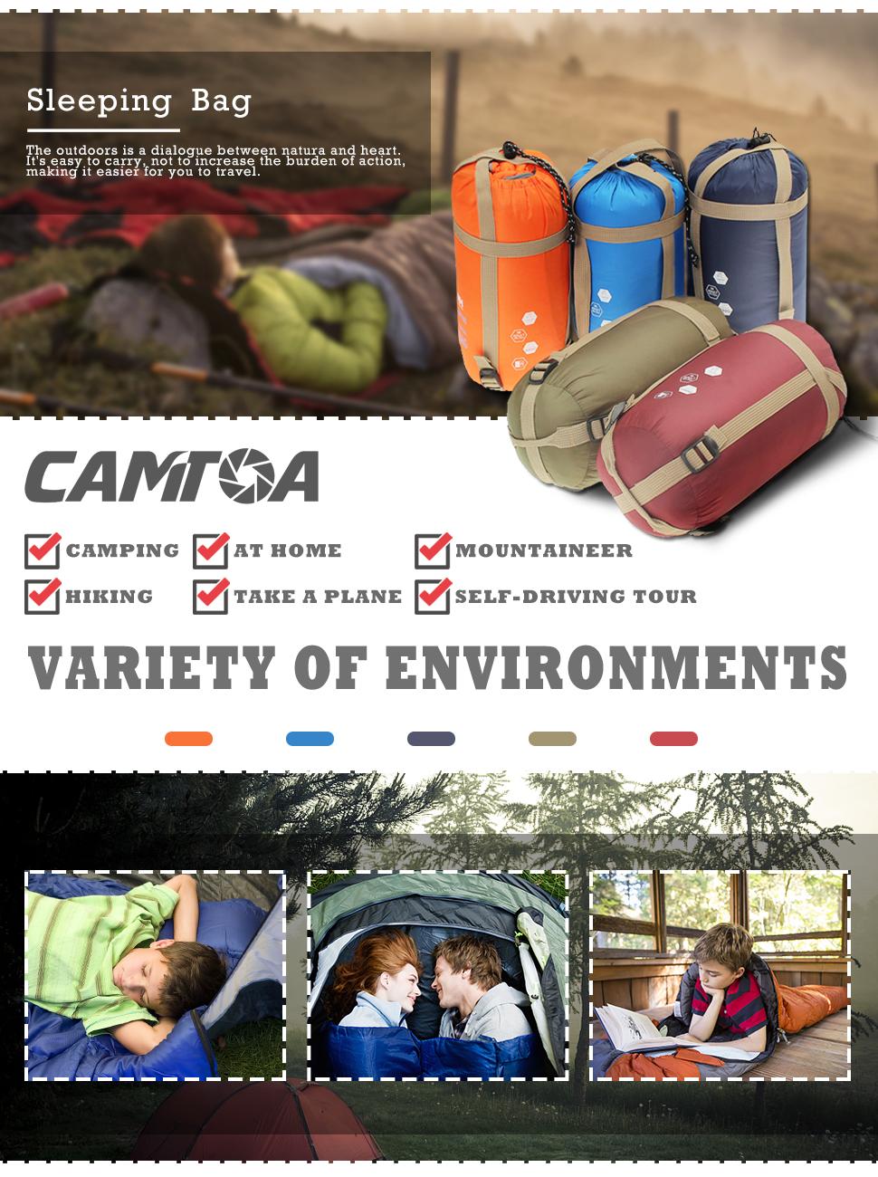 Amazon.com: CAMTOA Saco de dormir ultraligero para acampada ...