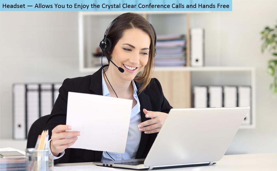 headset with microphone for office phones