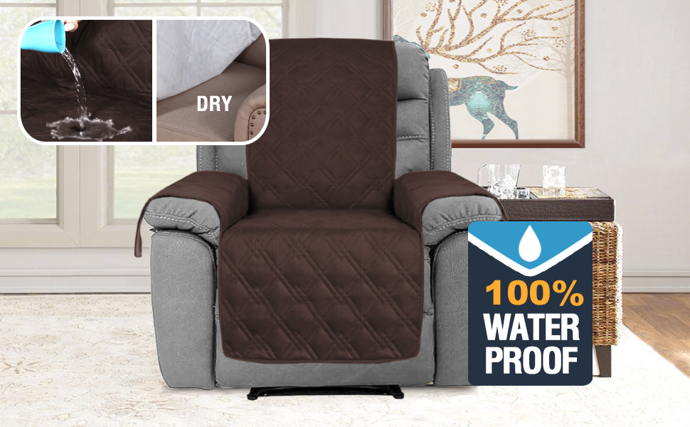 H.VERSAILTEX 100% Waterproof Furniture Protectors for Recliners Sofa Cover for Leather Sofa, Non-Slip Protector for Recliner Chair, Recliner Chair ...