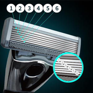 6 shaving blades