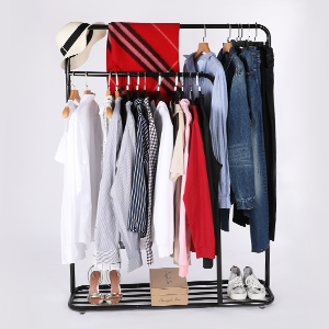 Amazon.com: Heavy Duty Garment Rack, Cozzine Double Rail ...