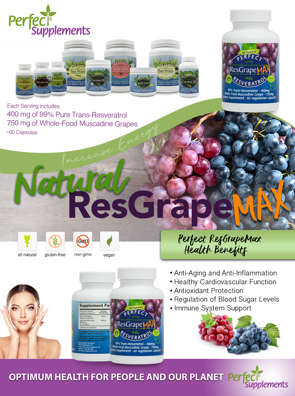 Amazon Com Perfect Resgrape Max 99 Trans Resveratrol