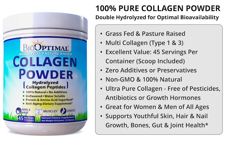 collagen, collagen peptides, collagen peptides powder, organic collagen powder, collagen hydrolysate