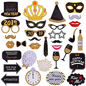 Get Here New Years Eve Photo Booth Props