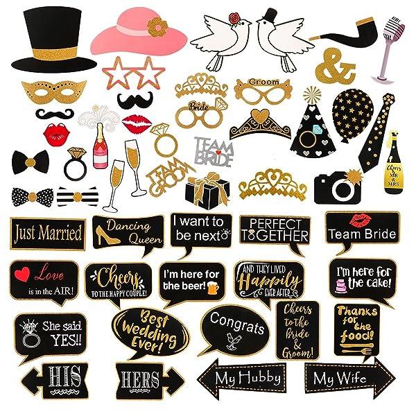 Amazon.com: 60 piezas de accesorios para cabina de fotos de ...