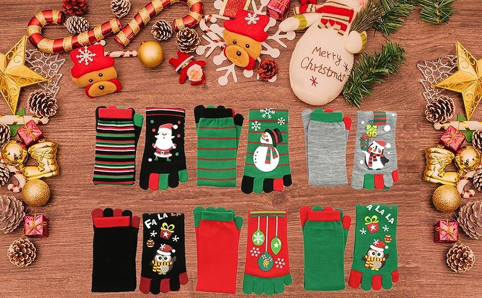 Christmas Tree Ornament Boys Girls Cute Winter Warm Gloves Full Finger Xmas Gift 9.11 Reputation First Men's Arm Warmers