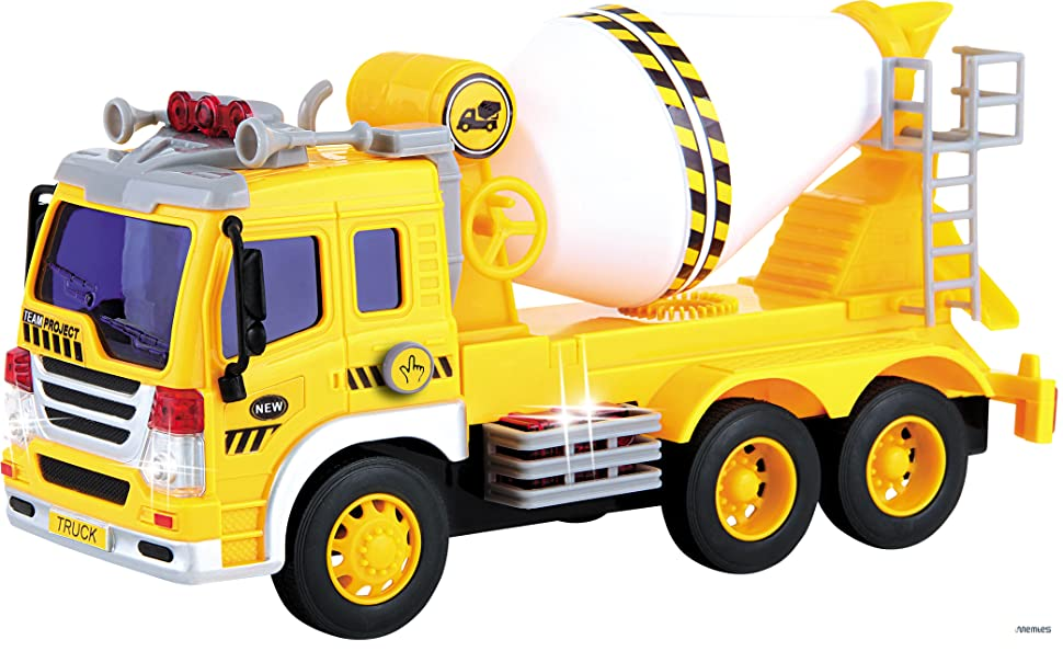 Mixer Truck Toy : Amazon memtes friction powered cement mixer truck toy