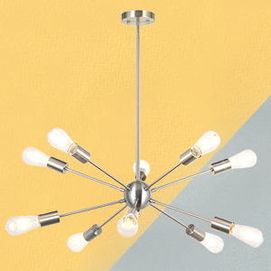 10 Light Chandelier Modern Starburst Chandelier