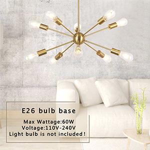 Modern Pendant Lighting Industrial Vintage Ceiling Light Fixture