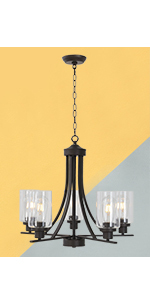 5 Light Oil Rubbed Bronze Classic Chandelier
