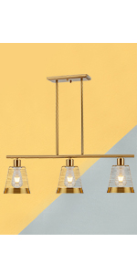 brushed brass Modern Cage Farmhouse Lighting